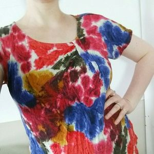 Daisy Fuentes tie dye twist blouse Size L shirt
